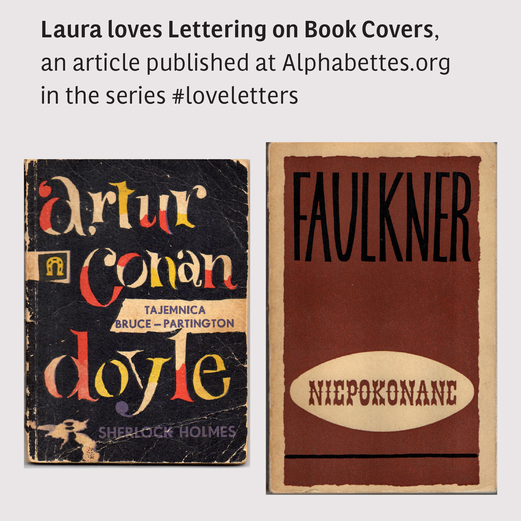 Lettering on book Covers