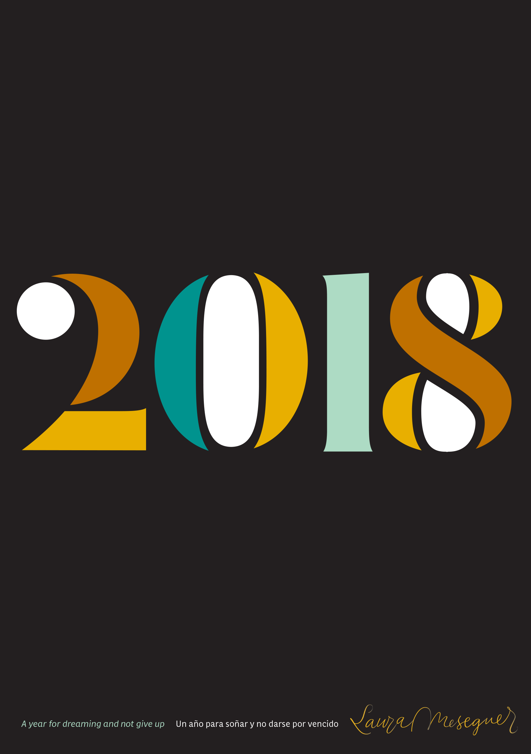 Typographic Poster: «2018» for Laura Meseguer