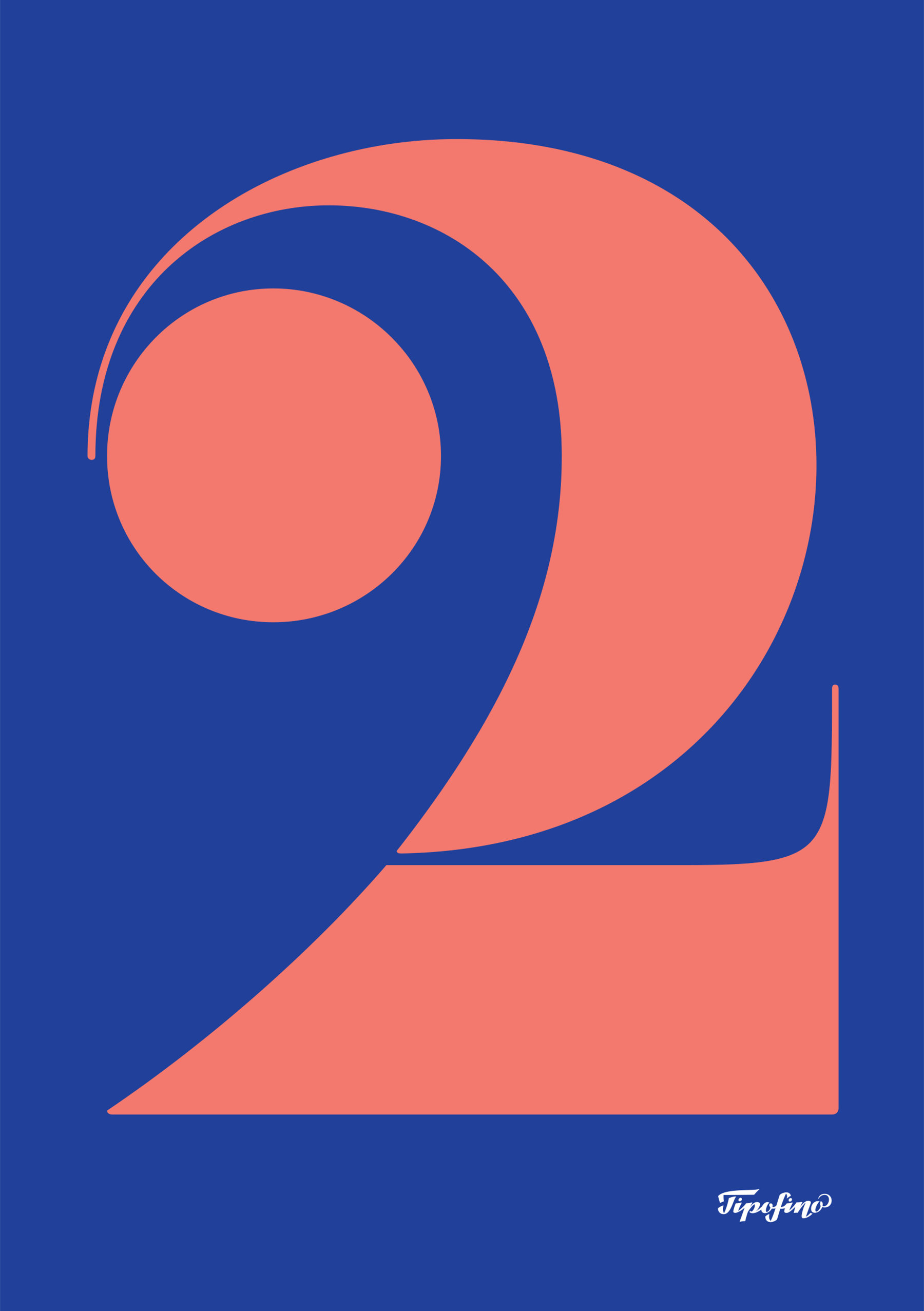 Typographic Poster: «2» for Comuniza
