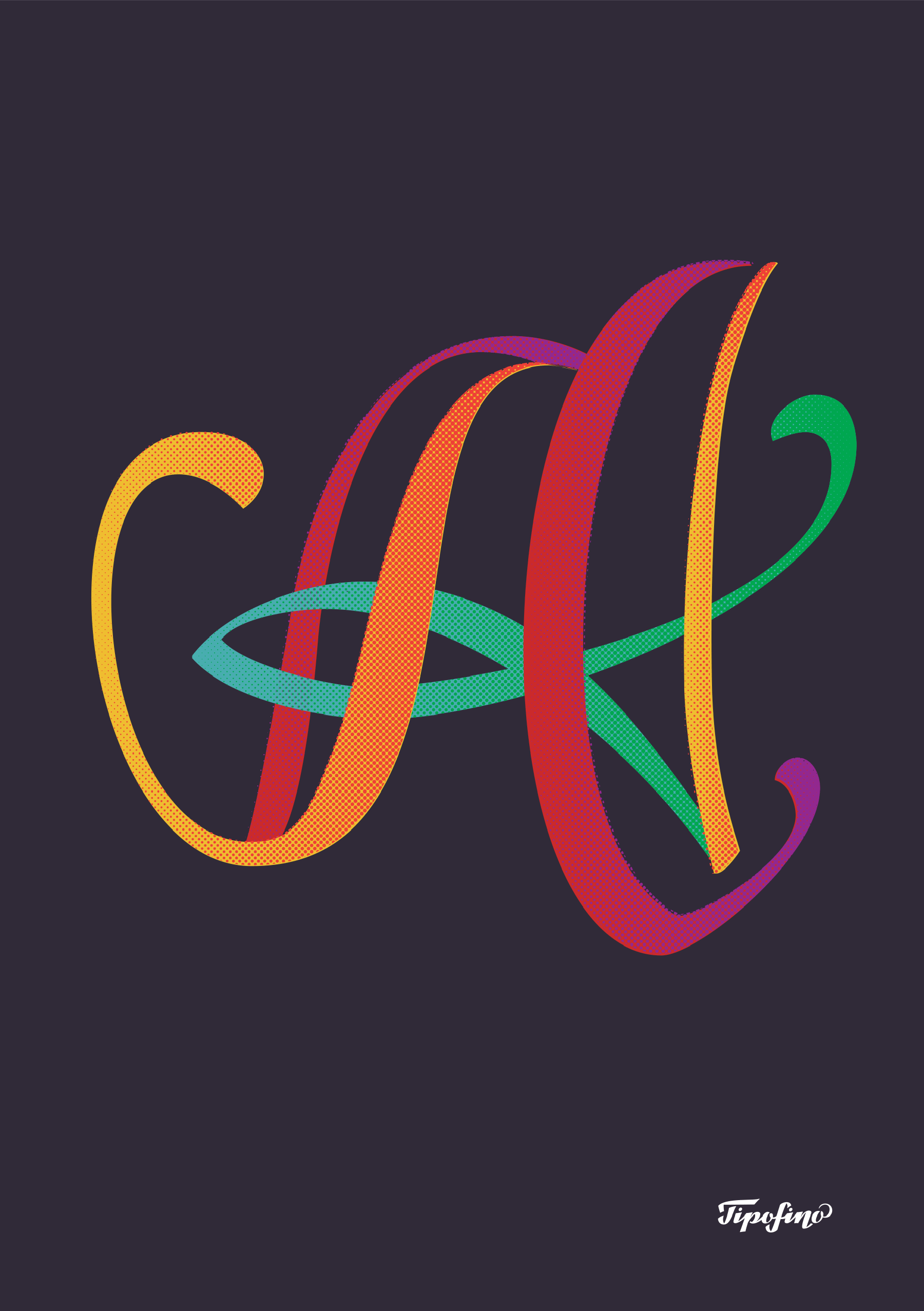 Typographic Poster: «Calligraphic A» for Tipofino