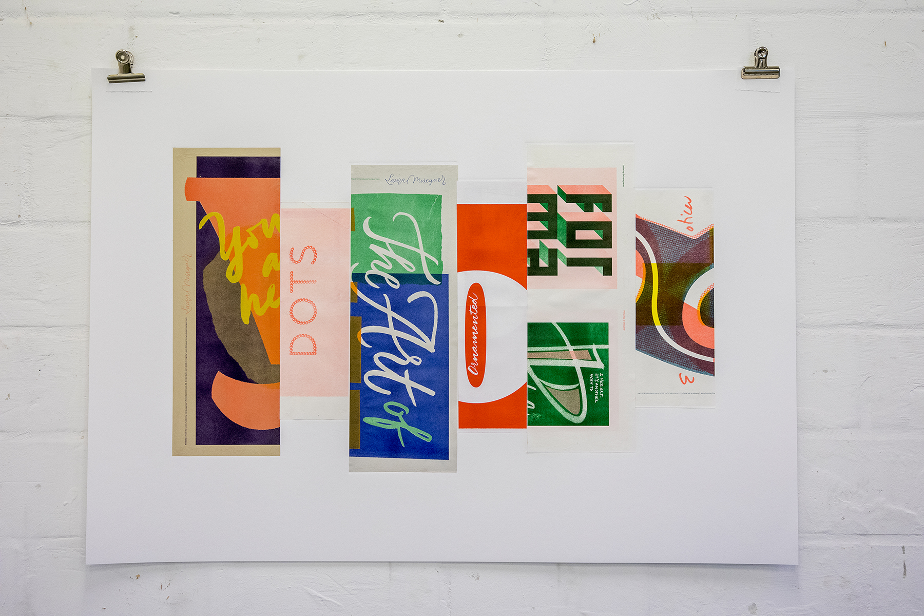 Typographic Collage: Artistic Residence at the AGA LAB Amsterdam