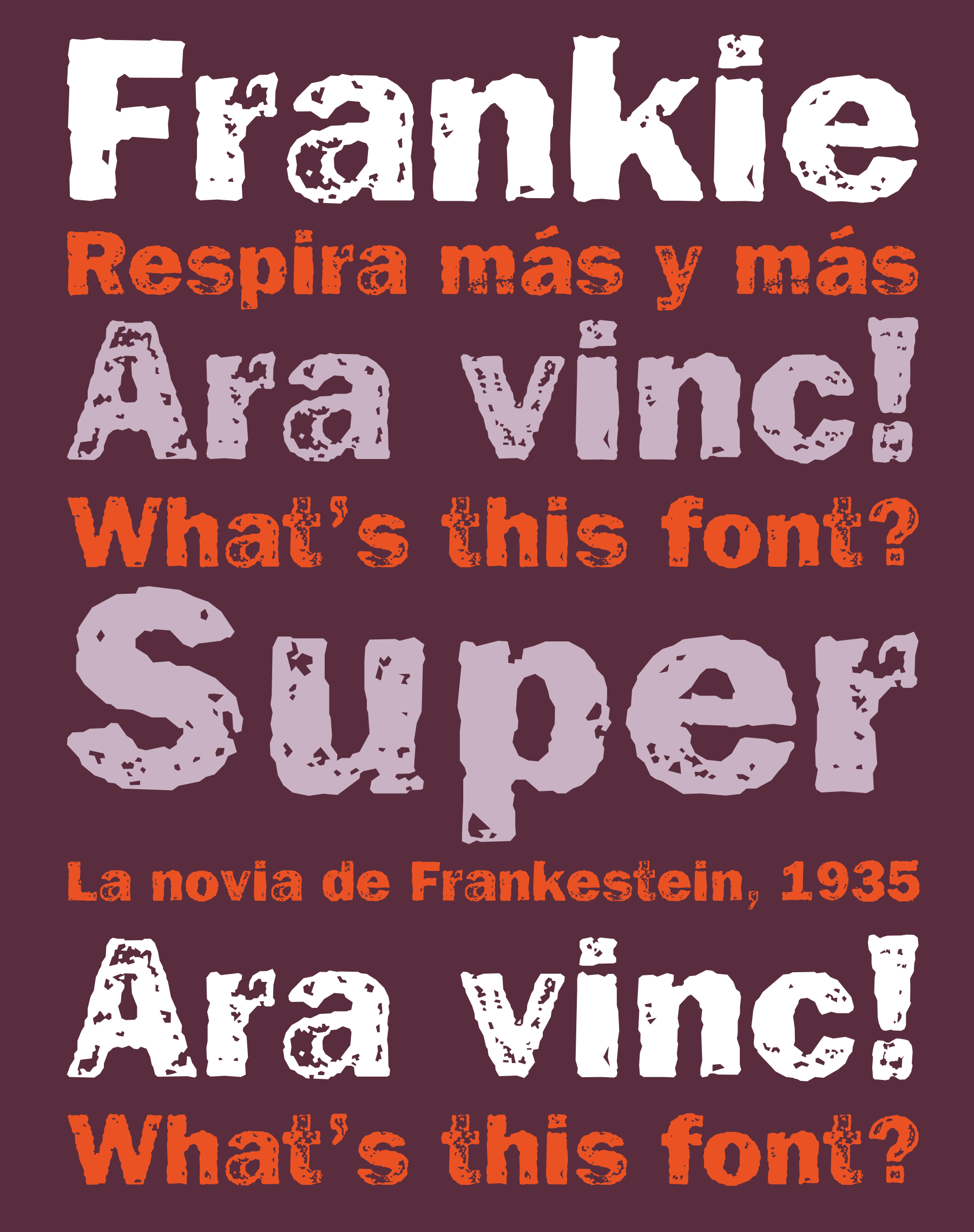 Retail Type Design: Frankie