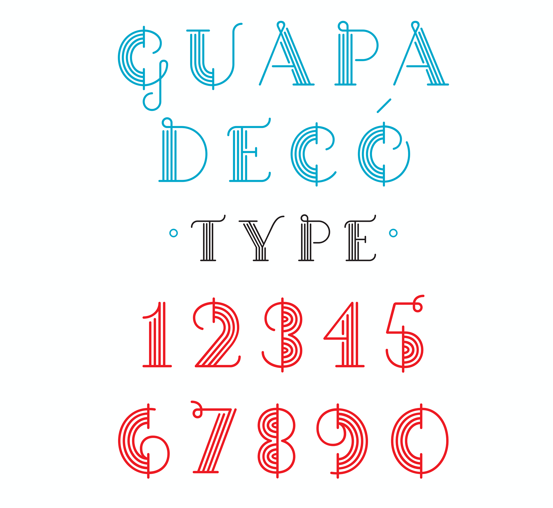 Retail Type Design: Guapa Deco