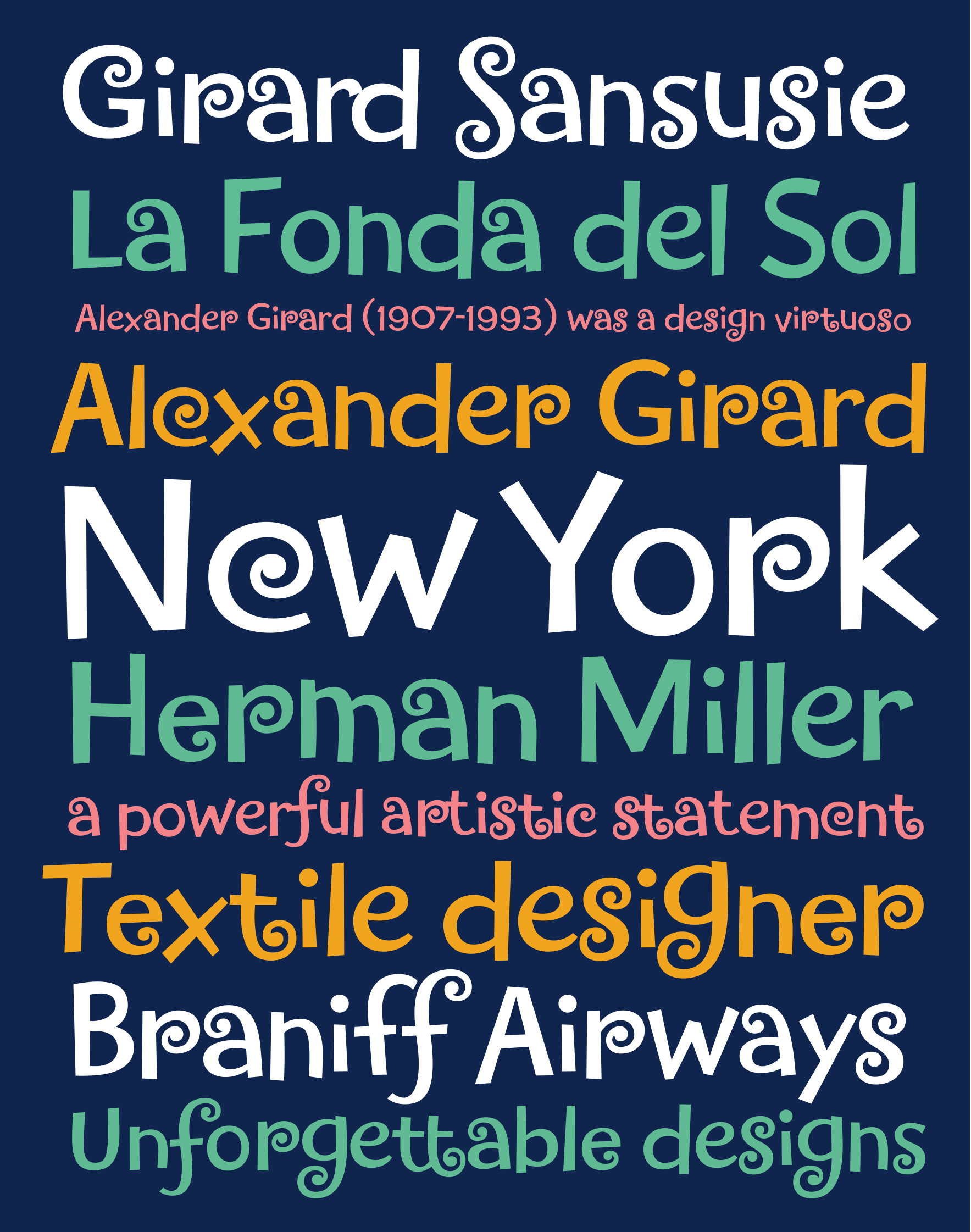 Retail Type Design: Girard Sansusie for House Industries