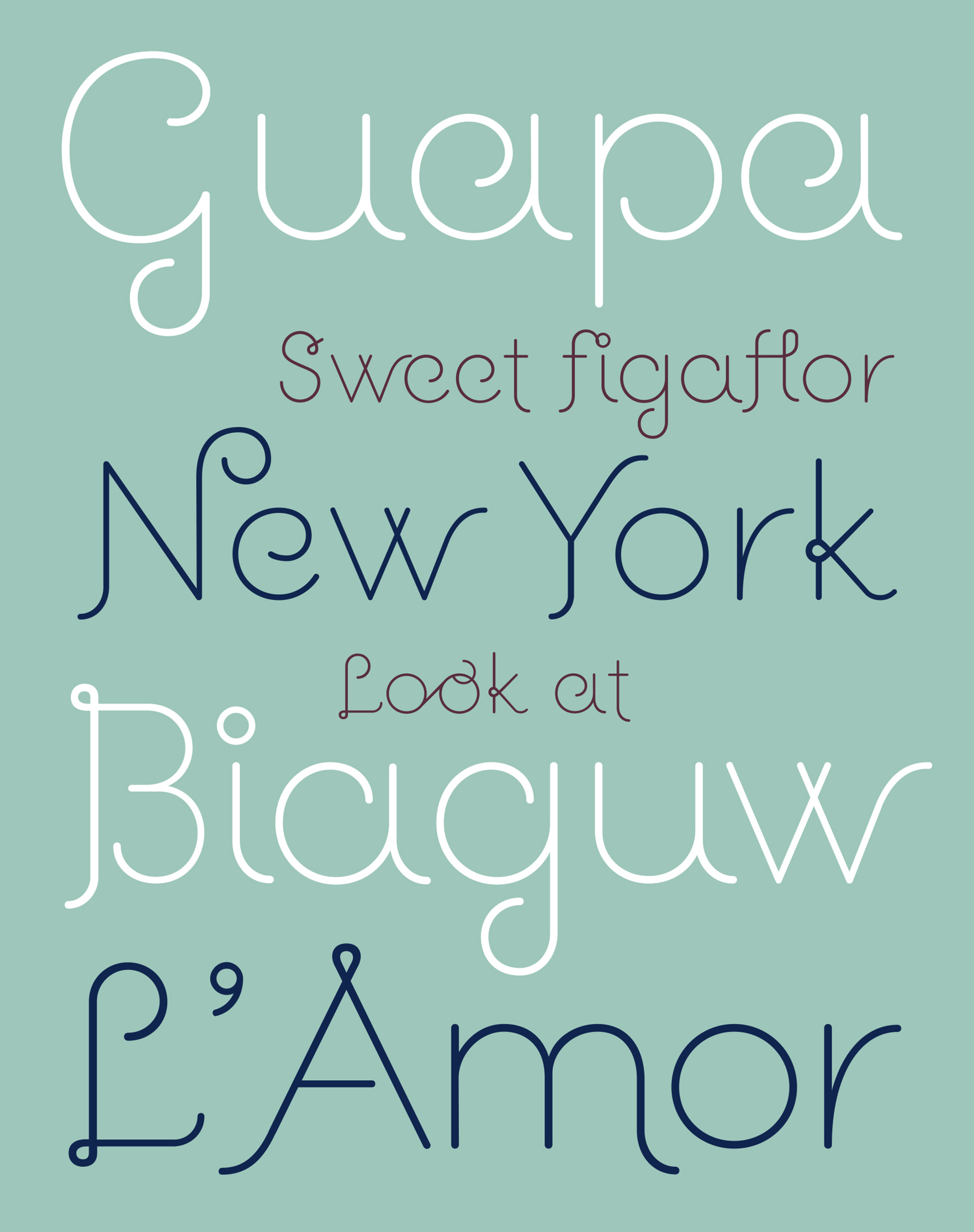 Retail Type Design: Guapa