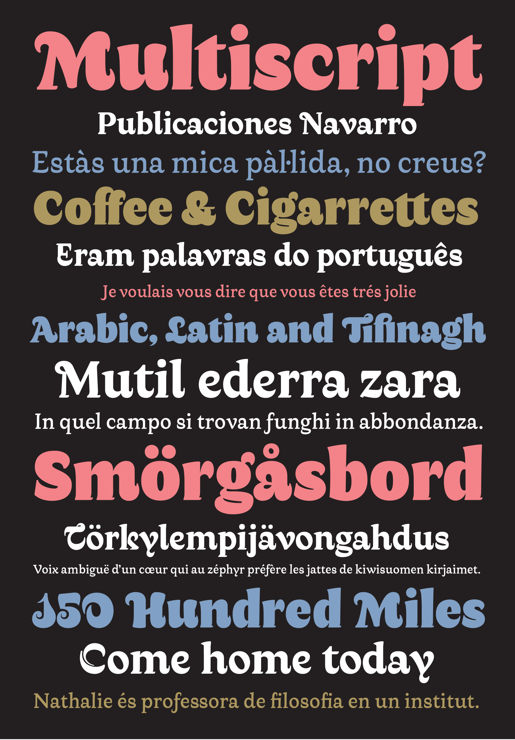 Retail type design: Qandus, a multi-script type project. Latin by Laura Meseguer