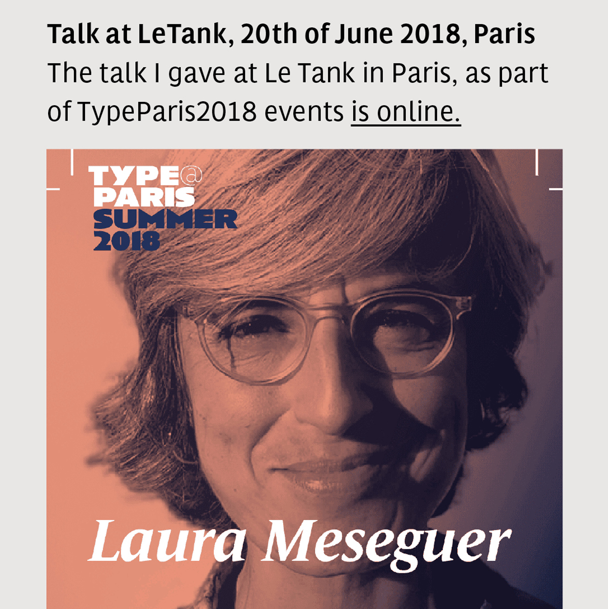 Talk and teaching at TypeParis 2018