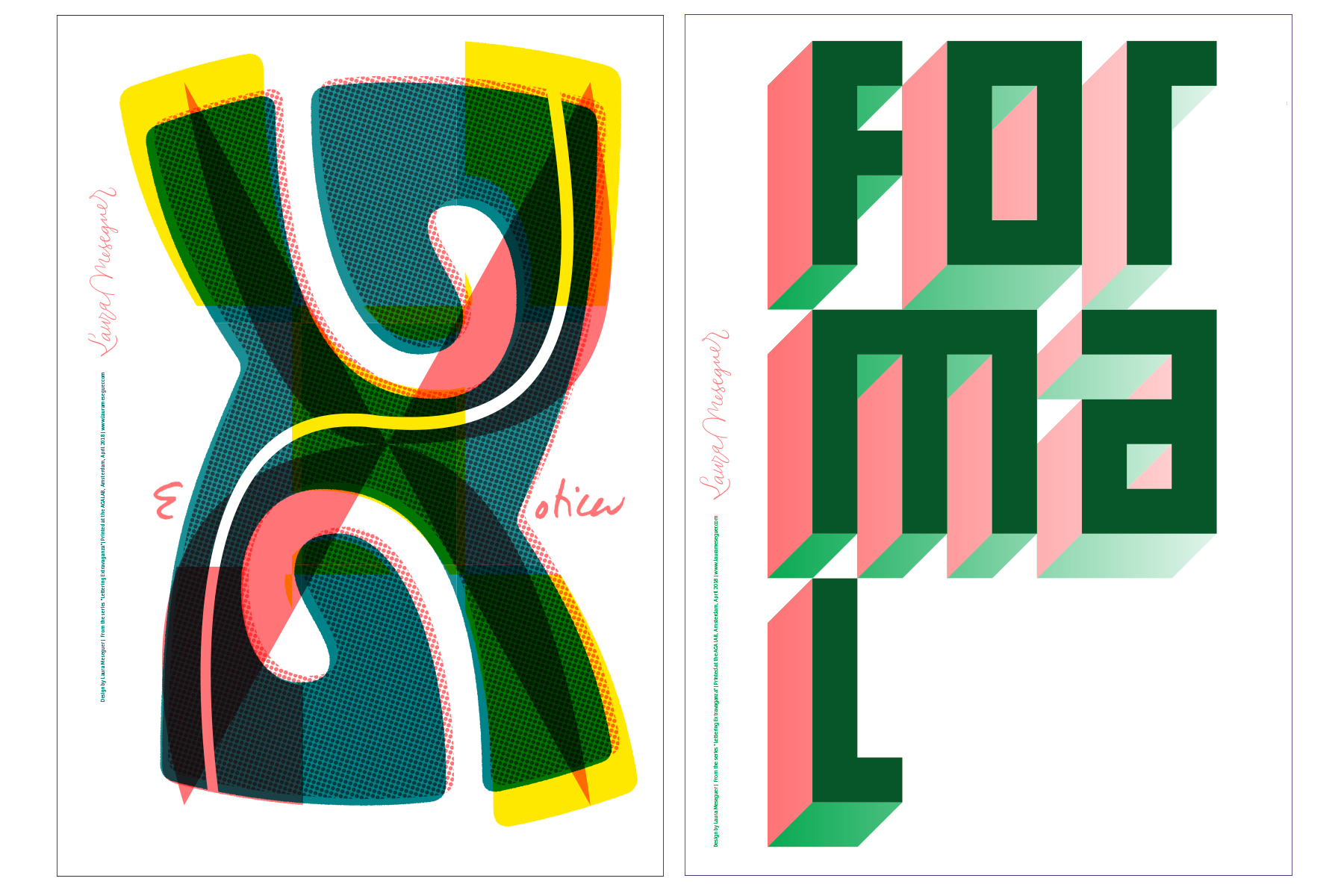Lettering Extravaganza: Artistic Residence at the AGA LAB Amsterdam