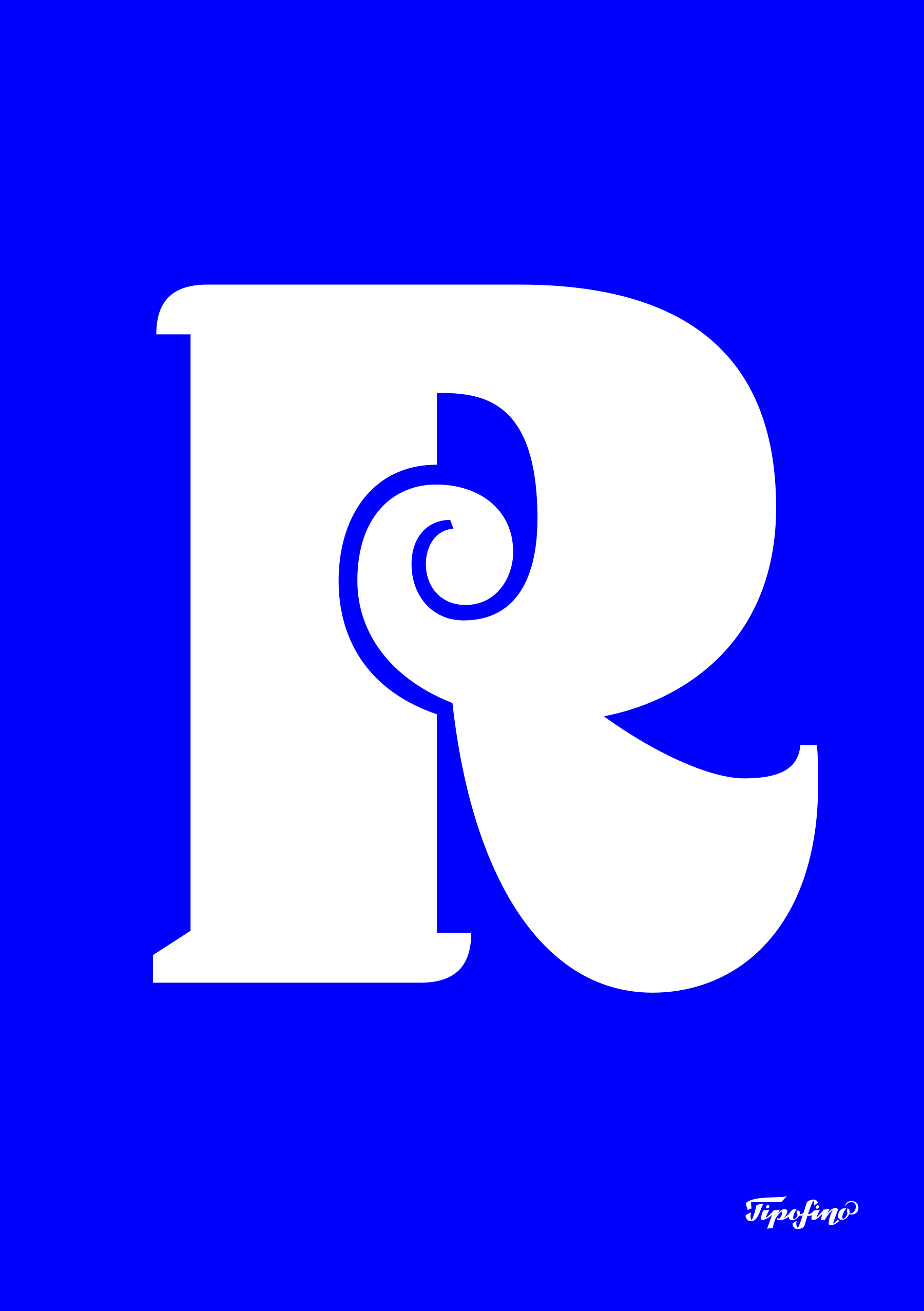 Typographic Poster: «R» of Qandus for Tipofino