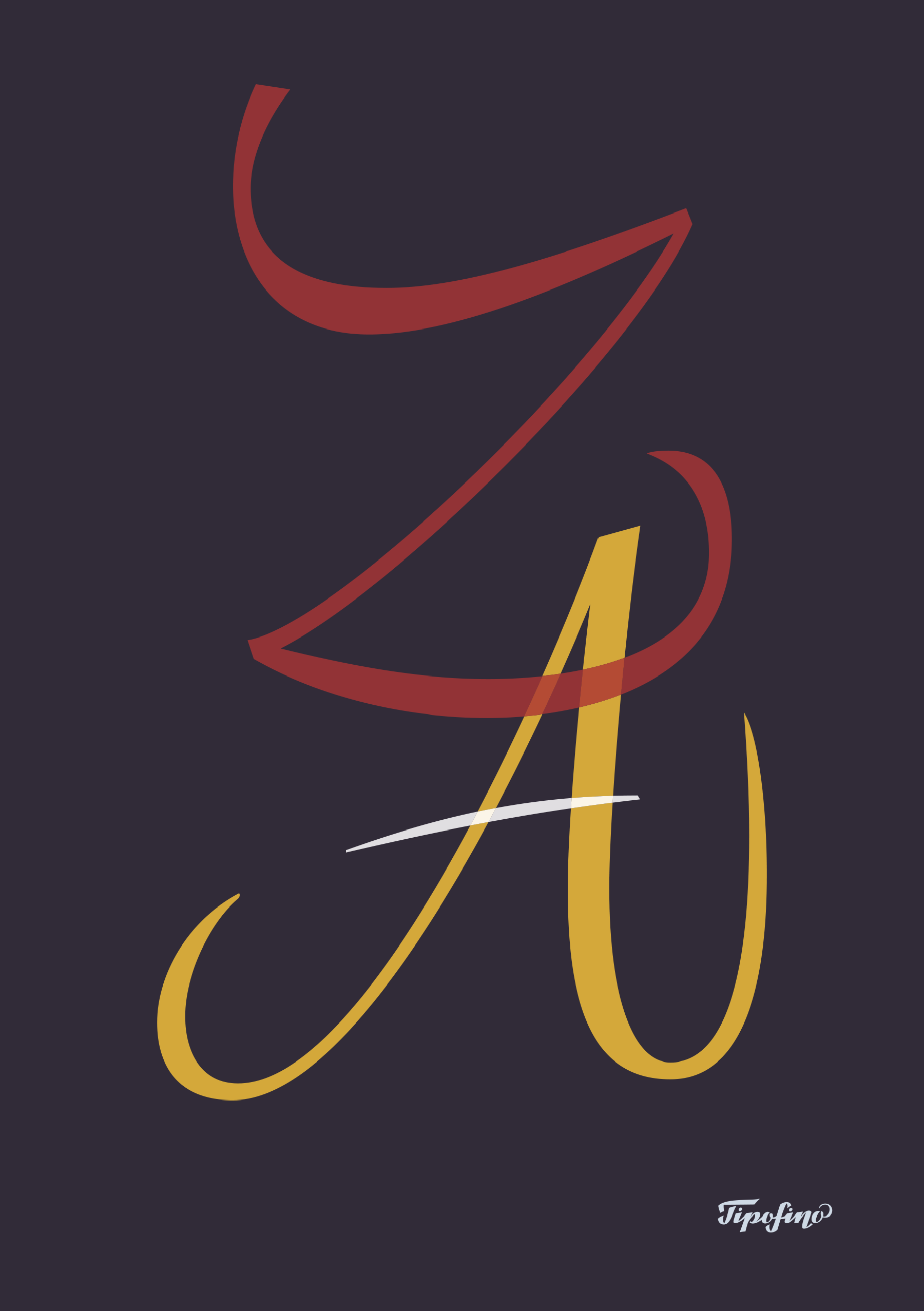Typographic Poster: Z-A for Tipofino