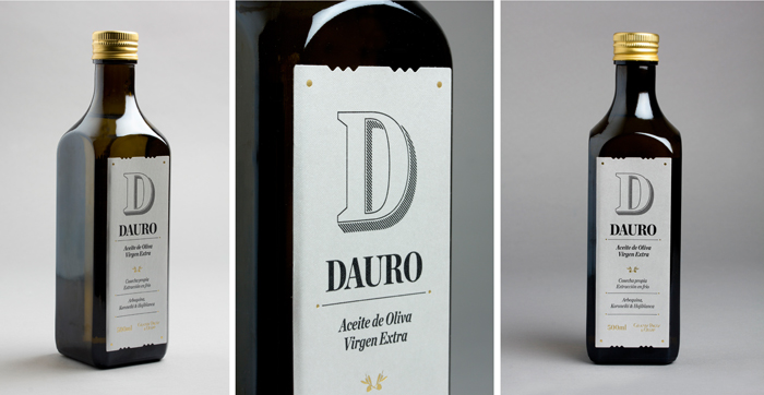 Custom Type Design: Dauro Olive Oil Label