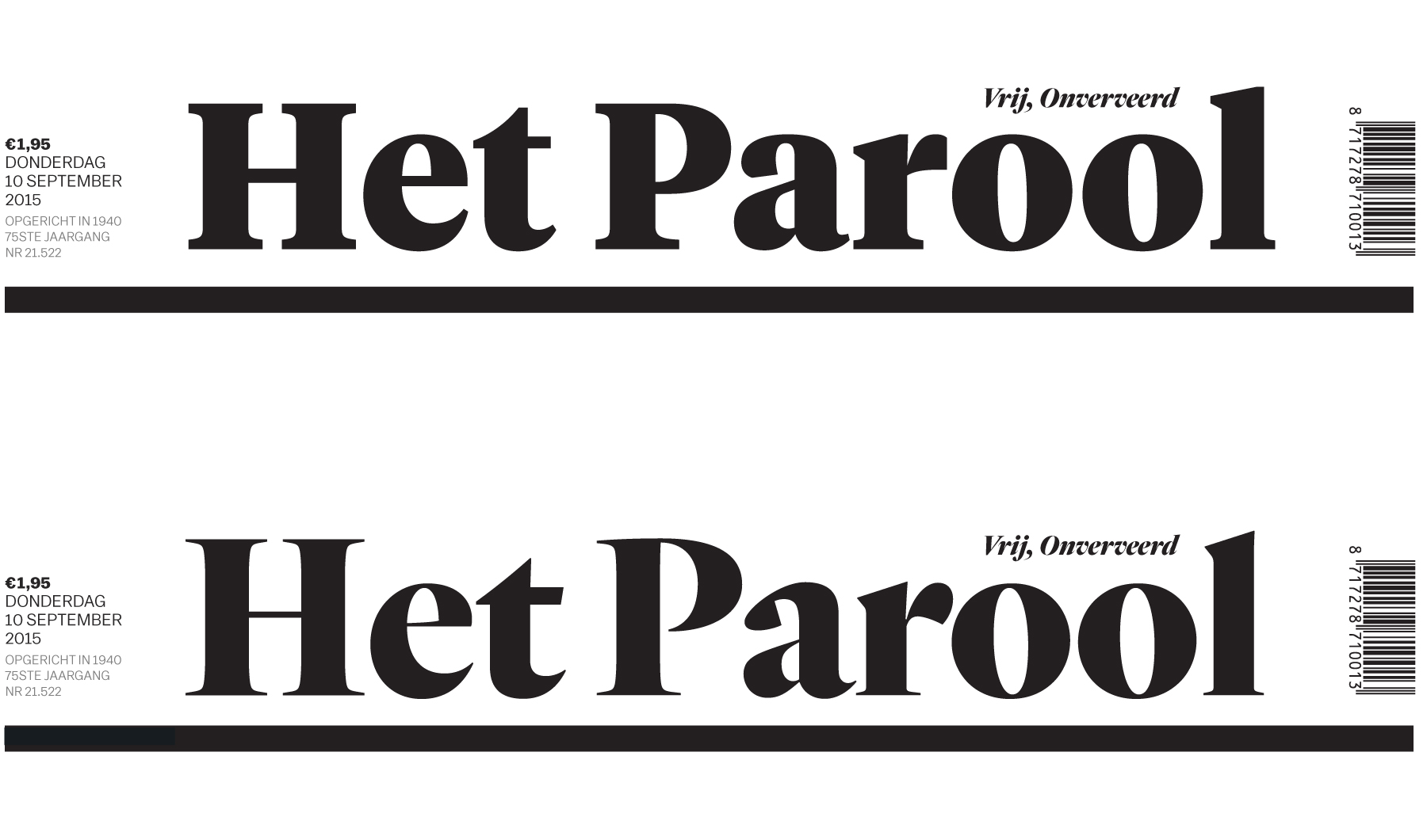 Custom Lettering: Masthead Logo for Het Parool Process