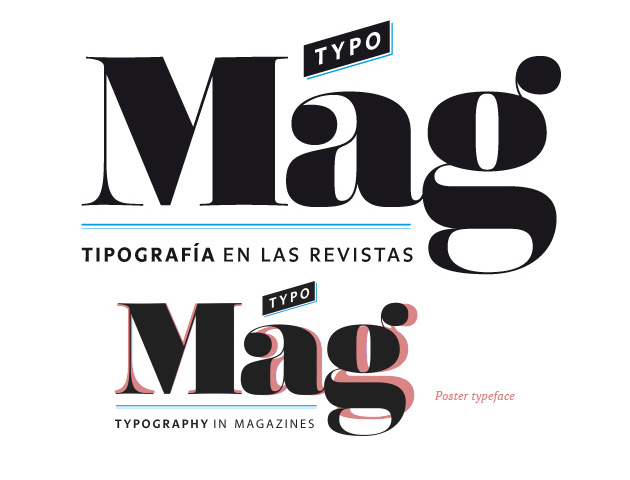 Custom Lettering: Logo for Typomag. Typography in magazines. Design & Authorship of book